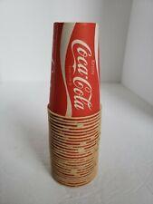 Lot of 27 Vintage Wax Paper Cups COCA COLA ENJOY COKE