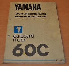 Yamaha 60C Werkstatthandbuch Aussenbordmotor Outboard Wartungshandbuch