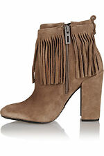 Women\'s Suede Fringe Boots | eBay