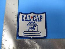 Cal Cap Patch Embroidered White With Blue Trotters Harness Racing S3187