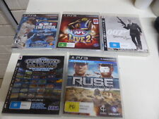 sony PS3  games Sega ultimate collection  007 Ruse  AFL live 2 NBA MLB
