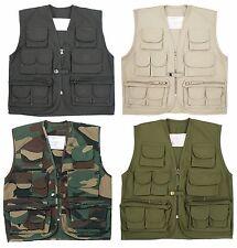 NEW KIDS CHILDREN  TOP GUN MULTI POCKET WAISTCOAT VEST ACTION ARMY CADET UNIFORM