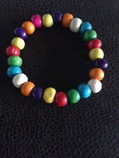 Multi-coloured wood Bracelet, Child, Teen, Party Bag Fillers
