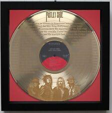 Motley Crue Wild Side Framed Laser Etched Lp Record M4