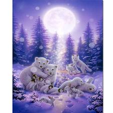 Baby Animal Snow Scene Mosaic Diamond Painting Kit 30cm x 40cm Like cross stitch