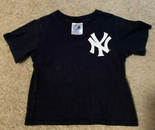 DEREK JETER  NEW YORK YANKEES YOUTH 4T #2 MAJESTIC T-SHIRT
