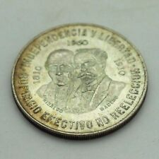 1960 Silver Mexico 10 Diez Pesos Crown Sized Coin 90 % Silver Bullion