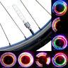 2 PCS BIKE CYCLING BICYCLE WHEEL TIRE VALVE CAP SPOKE NEON 5 LED LIGHTS LAMP T