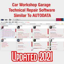 2021 Car Workshop Garage Technical Repair Software Similar To Autodata