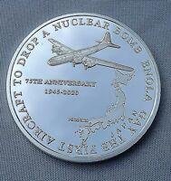 Enola Gay Silver Coin Bomber Hiroshima 1945 OMD Song Nagasaki WW2 Nuke Weapon US