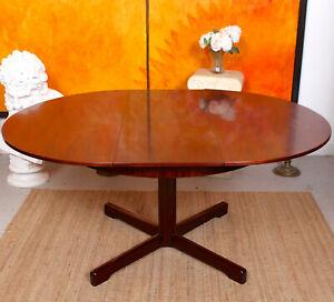 Vintage Rosewood Dining Table McIntosh 6 Seater Circular Extending 70s Circular