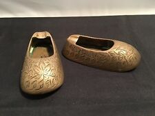 Brass Engraved Pair of Slippers / Shoes Ashtrays from India