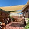 8' x 12' Sun Shade Sail, Rectangle Sand UV Block Canopy for Patio Lawn Yard