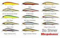 Megabass ITO SHINER engineering 115mm 1/2oz Suspend JDM Choose Your Color!!