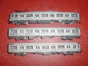 TRAIN RAME INOX BUDD 3 éléments HO JOUEF