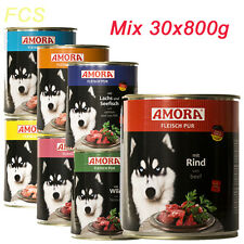 30x800g Amora Fleisch Pur,Hundefutter,Premiumfutter,Getreidefrei wie Rinti