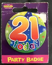 21st birthday badge New On Packaging.