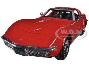 1970 CHEVROLET CORVETTE RED 1/24 DIECAST MODEL CAR BY MAISTO 31202