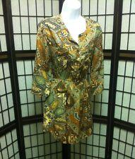 Anthropologie Holding Horses Paisley Palette Shirtdress Tunic Shirt Dress 4