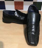 Lambretta Men's Black Leather Casual Slip On Loafers UK 7 EU 41 210985
