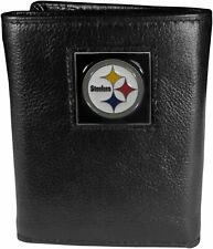 PIttsburgh Steelers Leather Tri-Fold Wallet, NFL Trifold