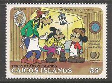 Caicos #81 (C10) VF MINT NH - 1985 35c Mark Twain, Mickey and Goofy