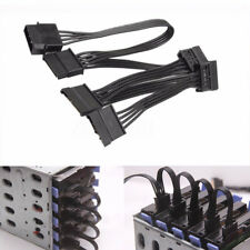 018AWG 4 Pin IDE Molex to 5 Serial SATA Hard Drive Power Adapter Cable Wire Fold