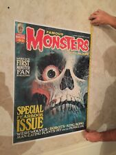 One of a Kind, Famous Monster Oct. '72 #93 Poster 24x32 picture paper. One made