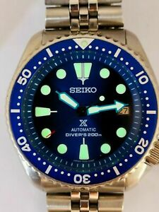 SEIKO DIVER 7002-7000 LOVELY SAVE THE OCEAN MOD AUTOMATIC MENS WATCH SN. 400515