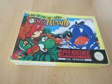 Super Nintendo SNES Game Super Mario World 2 Yoshis Island pal boxed