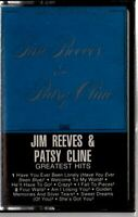 Jim Reeves & Patsy Cline Greatest Hits Cassette Tape 1981 RCA