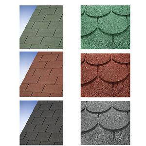 Dachschindeln für Gartenhaus Biberschindeln Rechteck Schindeln Dachpappe Bitumen
