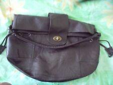 Atmosphere dark chocolate brown large PVC shoulder bag