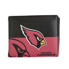 Arizona Cardinals NFL Men's Printed Logo Leather Bi-Fold Wallet