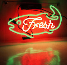 "New Neon Sign Light Restaurant Seafood Shop Poster Beer Bar Decor Artwork15""X10"""