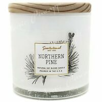 Scentsational Natural Soy 5oz Single Wick Candle Wood Lid - Northern Pine Scent