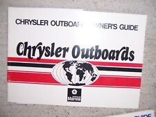 1979 Chrysler Outboard Motor Owner Manual All Models SEE OUR STORE FOR MORE  S