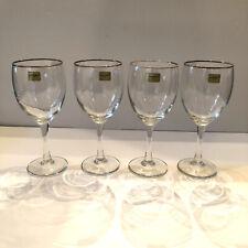 NWD Luminarc Gold Rimmed 10 oz Wine Glasses Set of 4