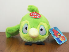 """Rio 5"""" Green Caged Bird Angry Birds Plush Stuffed Animal Doll With Sound **NEW**"""