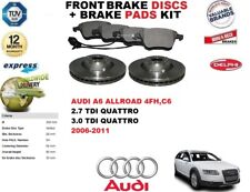 FOR AUDI A6 ALLROAD 2.7 3.0 TDI 320MM FRONT BRAKE DISCS SET + DISC PADS KIT