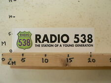 STICKER,DECAL RADIO 538 THE STATION OF A YOUNG GENERATION C BETA SCOOTER