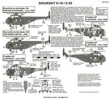 Berna Decals 1/48 Sikorsky H-19 S-55 Helicopter Part 2