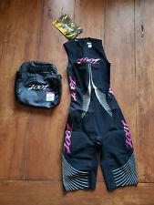 Zoot Womens Xs Ultra Speedzoot 2.0 Tri Suit Black Triathlon Speedsuit Light Swim
