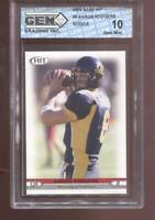 Aaron Rodgers RC 2005 Sage Hit #8 Packers HOF Rookie GEM MINT 10