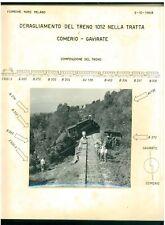 FERROVIE NORD MILANO INCIDENTE DISASTRO FERROVIARIO 2 OTTOBRE 1958 IGNIS TRENI