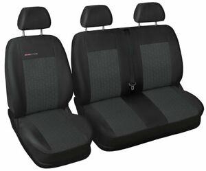 Van seat covers fit Volkswagen Transporter T6 charcoal grey P1