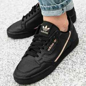 Adidas Originals Continental 80 Leather Casual Women's Shoes Black EE4349 SZ 10
