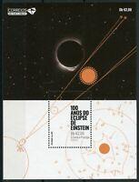 Sao Tome & Principe Albert Einstein Stamps 2019 MNH Solar Eclipse Science 1v S/S