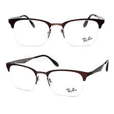 dbdc192822 Ray Ban RB 6360 2862 Brown on Gunmetal 51 20 140 Half Rimless Eyeglasses