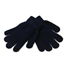 Children Kids Girls Boys Thermal Magic Winter Warm Gloves Stretchy Colorful Gloves One Size for Outside Wear in 5 Trendy Shades Black Navy Blue and Pink Colours